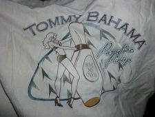 "Buy Tommy Bahama 100% Silk Camp Shirt Embroidered Small Paradise Pimp ""Bowl Me Over"