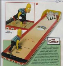 Buy Bowling Game Simpsons Bowl a Rama Tin Toys