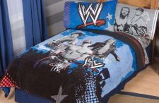 Buy Twin/Full Super Soft Comforter Sports Bedroom WWE Blue Boys Novelty NEW IN BAG!!
