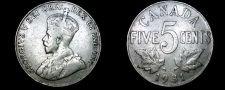 Buy 1931 Canadian 5 Cent World Coin - Canada