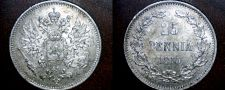 Buy 1915-S Finland 25 Pennia World Silver Coin Russian Admin