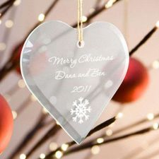 Buy Beveled Glass Ornament-Heart Shaped - 15 Design Choices - Free Personalization