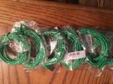 Buy Lot Of 8 - HEMP (Green) Micro USB cell phone charging cables