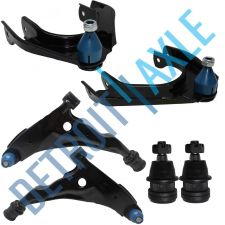 Buy 6PC Kit: 2 NEW Lower Control Arms + 2 Upper Control Arms + 2 Upper Ball Joints