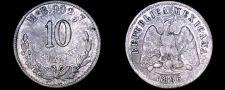 Buy 1896-Mo B/G Mexican 10 Centavo World Silver Coin - Mexico
