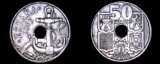 Buy 1963 (63) Spanish 50 Centimos World Coin - Spain