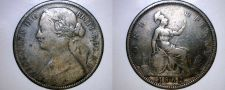 Buy 1862 One Penny World Coin - Great Britain - UK - England