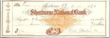 Buy New York Shelburne Cancelled Check Shelburne National Bank Check #137 Date~44