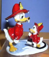 Buy Disney Donald Duck Fireman with nephew duck Huey Figurine