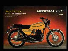 Buy BULTACO METRALLA OPERATIONS MAINTENANCE MANUAL for GTS 250 Cemoto Motorcycles