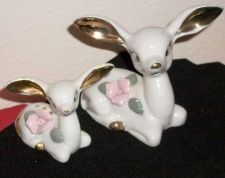 Buy Japanese White Porcelain Deer figurines gold ears, hand painted