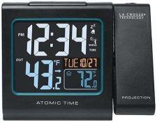 Buy Digital Projection Alarm Clock La Crosse Time Atomic LCD Office Desk Temperature