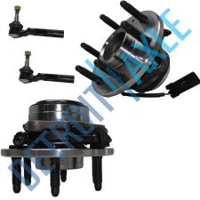 Buy NEW 4 pc Kit - 2 Front Wheel Hub and Bearing Assembly + 2 Outer Tie Rod End RWD