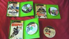 Buy NHL 2K5 + NFL 2K6 + NCAA FOOTBALL 2005 + NHL 2K6 + TOP SPIN XBOX GAMES GOOD TO V
