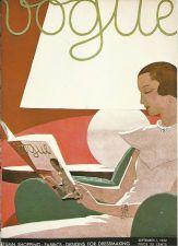 Buy Vogue 1932 Cover Print by A E Marty Art Deco Lamp 1984 original print