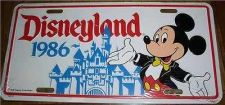 Buy Disneyland Mickey Mouse Castle 1986 License Plate
