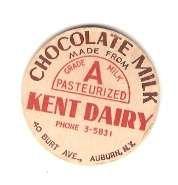 Buy New York Auburn Milk Bottle Cap Name/Subject: Kent Dairy MBCBag1~421