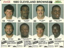Buy Browns Uncut Sheet Mr. Hero - Bernie Kosar and 6 other players - 1985