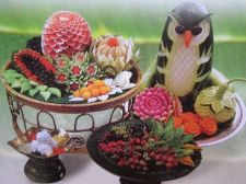 Buy Fruit Carving Book + Knife, Learn Veg Carved And Folding Banana Leaf Art in Thai