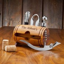 Buy Wine Barrel Accessory Set - Free Personalization