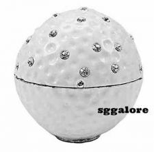Buy Collectible RUCINNI Swarovski Crystals BeJeweled GOLF BALL Trinket Jewelry BOX