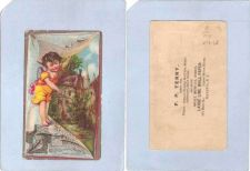Buy New York Batavia Victorian Trade Card F. P. Terry, 105 Main Street Opera H~65