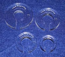 "Buy 4 Piece Set Offset 5/8"" Hole - ~1/4"" thick For greater than 1/2"" Hopper Foot"