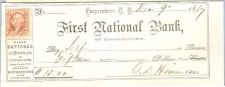 Buy New York Cooperstown Cancelled Check First National Bank of Cooperstown Ch~41