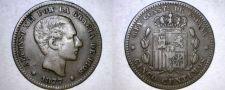 Buy 1877 Spanish 5 Centimos World Coin - Spain