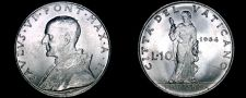 Buy 1964 Vatican City 10 Lire World Coin - Catholic Church Italy
