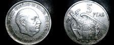 Buy 1957 (67) Spanish 5 Peseta World Coin - Spain Caudillo