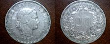 Buy 1884 Swiss 20 Rappen World Coin - Switzerland