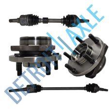 "Buy Front Driver and Passenger CV Axle Shafts + 2 Wheel Hub Bearings 15"" 16"" 17"" Whl"
