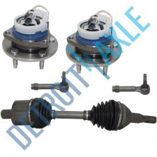 Buy 5 pc Set: Front CV Axle Shaft + 2 Outer Tie Rod + 2 Wheel Hub Bearing w/ ABS