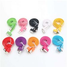 Buy 1M Noodle Shape Data Cable for iPhone 4/4S/iPad1/2/3/iTouch 4 Black