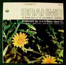 Buy BRAHMS ~ Symphony No. 2 in D major, Opus 73 / Academic Opus 80 Classical LP