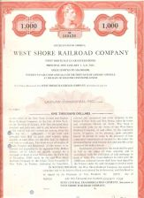 Buy New York New York City Stock Certificate Company: West Shore Railroad Comp~104