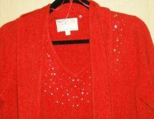 Buy Sweater with Bling and long sleeves & Bling scarf. Large Debbie Morgan design