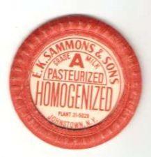 Buy New York Johnstown Milk Bottle Cap Name/Subject: E. K. Sammons & Sons Grad~450