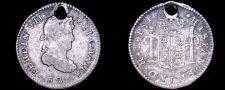 Buy 1823-PTS PJ Bolivian 1/2 Real World Silver Coin - Bolivia - Holed
