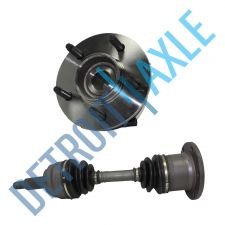 Buy 00-03 Ford F-150 CV Drive Axle + 1 Wheel Hub Bearing Assembly, 5 LUG 4x4 w/ ABS
