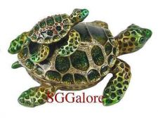 Buy RUCINNI Swarovski Crystals BeJeweled TURTLES TORTOISES Trinket BOXES Set