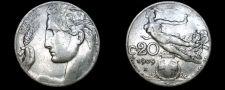 Buy 1909-R Italian 20 Centesimi World Coin - Italy