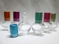 Buy 50 Roll On Cap Glass Bottles Travel Essential Oil Cosmetics Cologne Perfume 5 ml