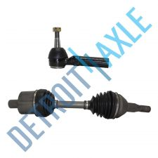 Buy 98-09 Front Left Side Pontiac Buick Olds CV Axle Shaft Assembly + Outer Tie Rod