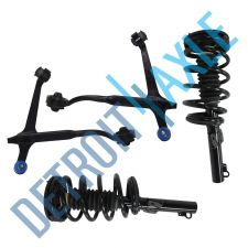 Buy 2 NEW Front Driver and Passenger Complete Ready Strut + 2 Lower Control Arms