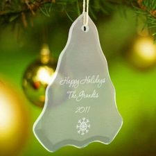 Buy Beveled Glass Ornament-Tree Shaped - 15 Design Choices - Free Personalization