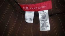 Buy ANNE KLEIN Light Brown w Stripes Straight Leg Stretch PANTS, Women's Size14-NEW