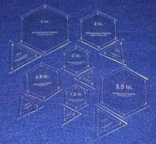 Buy Quilt Templates- 12 Piece Set Hexagon & Equilateral Triangles Acrylic 1/8""