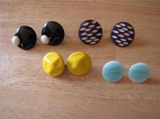 Buy 4 Pair of Colored Disc Clip-on Earrings